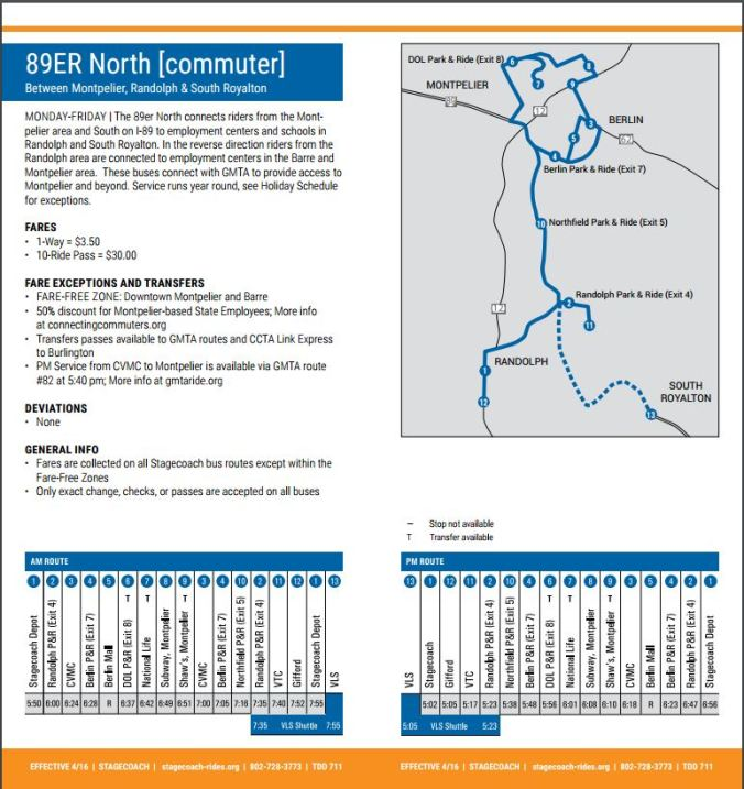 89er North_Stagecoach_Route and Schedule